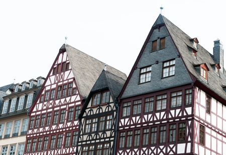 half timbered house: Frankfurt, Römer, half-timbered house Stock Photo