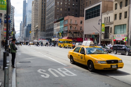 panning shot: Taxis, New York Editorial