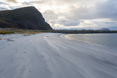 fl: The beach at Fl near Ulsteinvik in Norway.