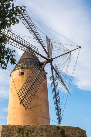 palma: Typical wind mill, Majorca Stock Photo