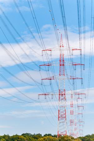 Pylons near Darmstadt (germany) Stock Photo