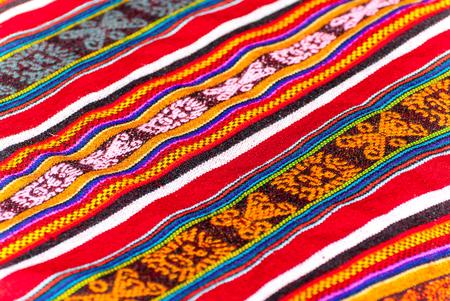 peruvian ethnicity: Colorful peruvian rug background
