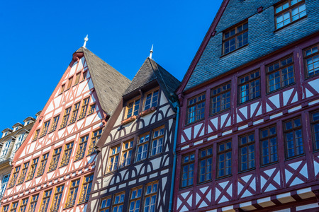 roemer: half-timber houses, Old city in Frankfurt Editorial
