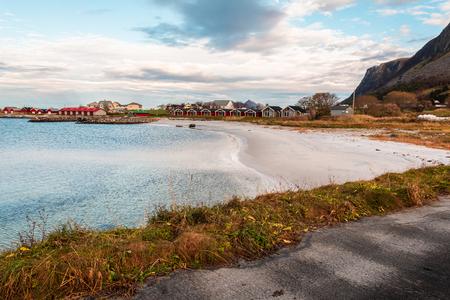 Flø beach in Ulsteinvik (Norway) Stock Photo