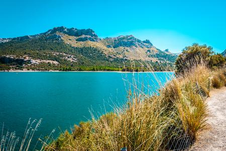 Gorg Blau, artifical lake, water supply mallorca Stock Photo