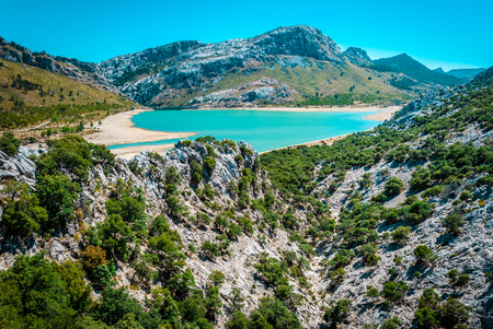 Gorg Blau, artifical lake, water supply mallorca Banco de Imagens