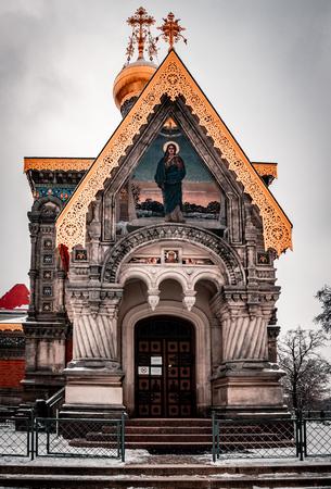 Russian chapel, Darmstadt, Winter