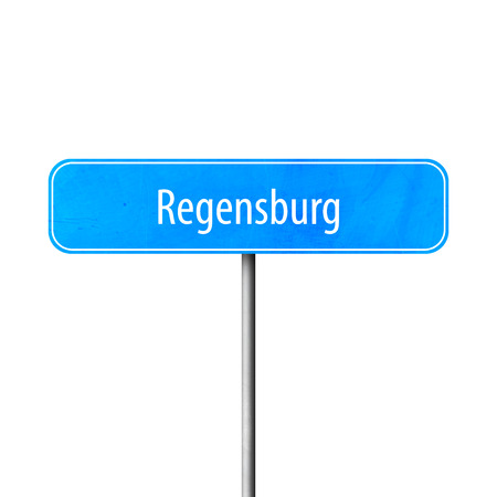 Regensburg - town sign, place name sign