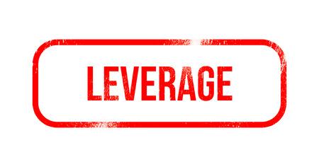 Leverage - red grunge rubber, stamp