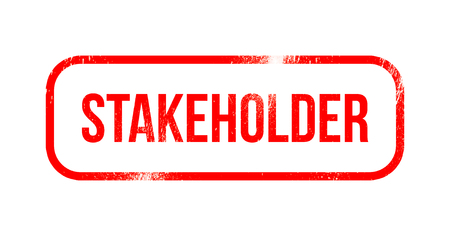 Stakeholder - red grunge rubber, stamp Stock Photo