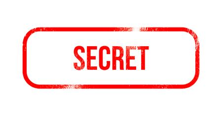 secret - red grunge rubber, stamp