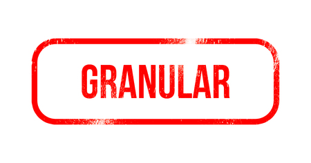 Granular - red grunge rubber, stamp