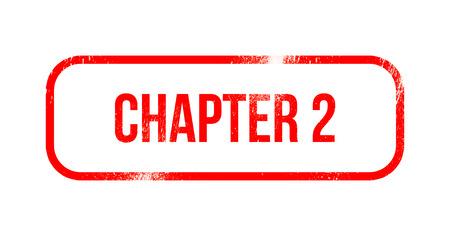 chapter 2 - red grunge rubber, stamp Stok Fotoğraf