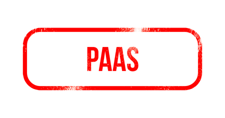 PaaS - red grunge rubber, stamp Stock Photo