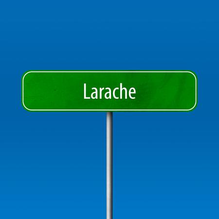 Larache - Stadtschild, Ortsnamenschild