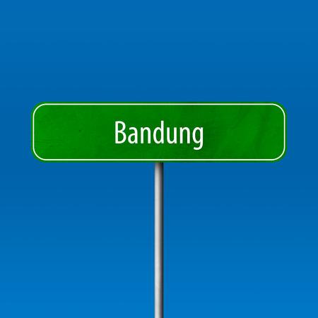 Bandung - town sign, place name sign Standard-Bild