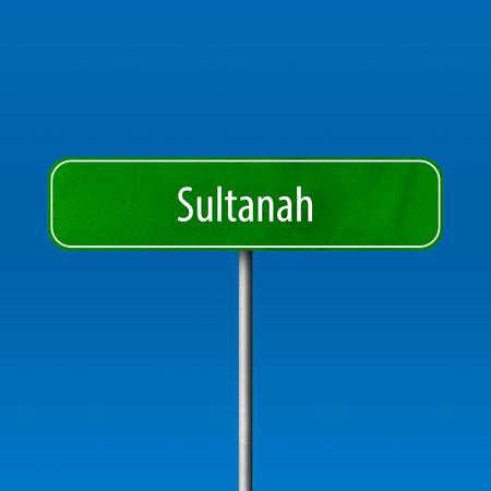 Sultanah - Stadtzeichen, Ortsnamenzeichen