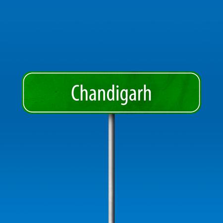 Chandigarh - Stadtschild, Ortsnamenschild