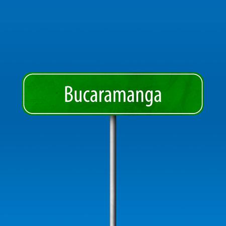 Bucaramanga - town sign, place name sign Standard-Bild