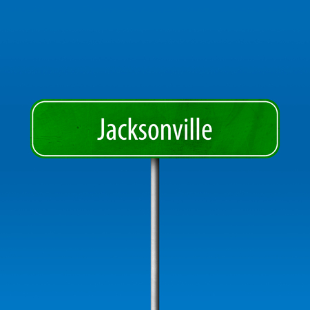 Jacksonville - town sign, place name sign