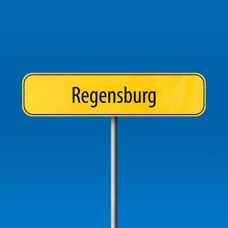 Regensburg - town sign, place name sign Standard-Bild