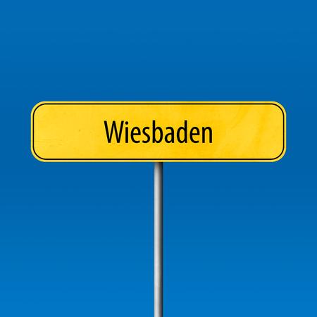 Wiesbaden - Stadtschild, Ortsnamenschild