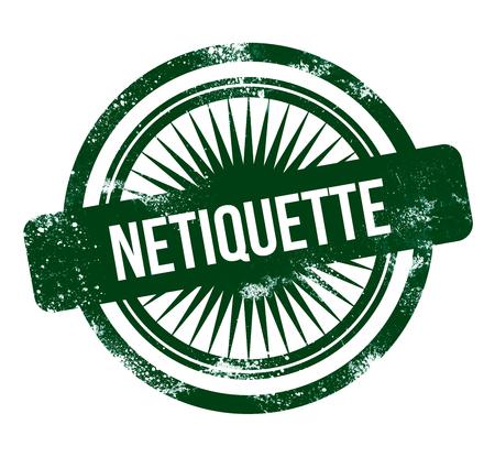 Netiquette - green grunge stamp Standard-Bild
