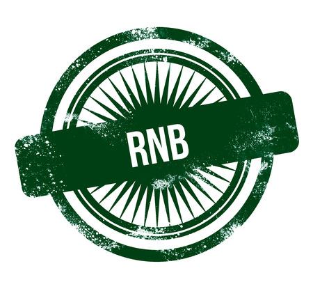RnB - green grunge stamp