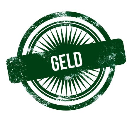 Geld - green grunge stamp