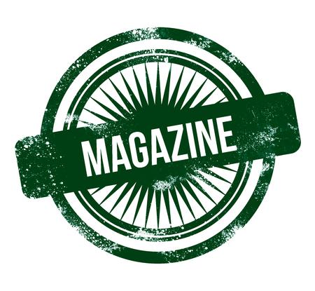 magazine - green grunge stamp