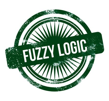 Fuzzy logic - green grunge stamp