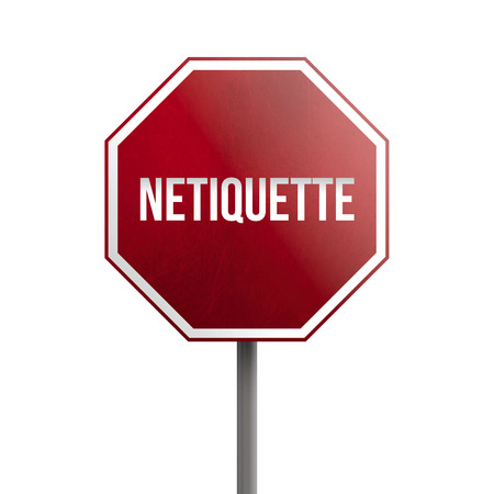 Netiquette - red sign isolated on white background