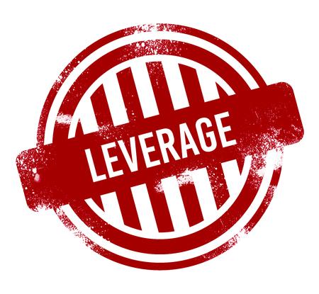 Leverage - red grunge button, stamp