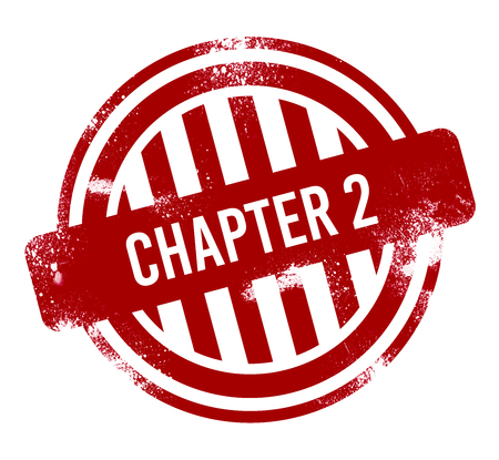 chapter 2 - red grunge button, stamp Stok Fotoğraf