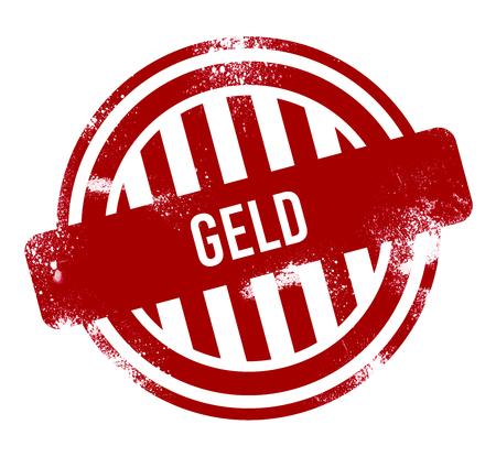 geld - red grunge button, stamp