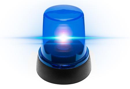 Blue light police Zdjęcie Seryjne