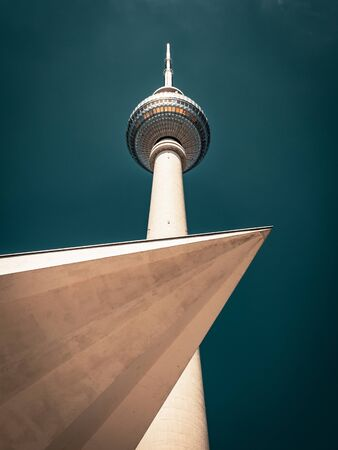 The Berlin Television Tower, low angle