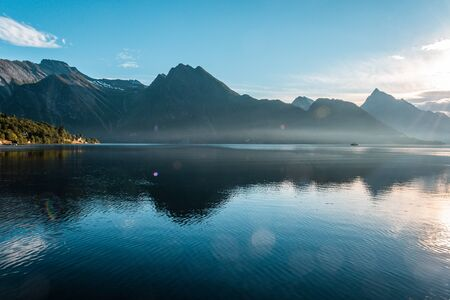 Fjord with mountains, Norway Reklamní fotografie