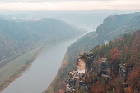 The Sandstone mountains near Dresden, germany