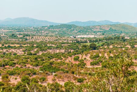 Mallorca landscape, Countryside in summer with clear sky (near Cala Millor), Spain