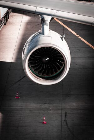 Engine, Turbine Airplane at Frankfurt Airport
