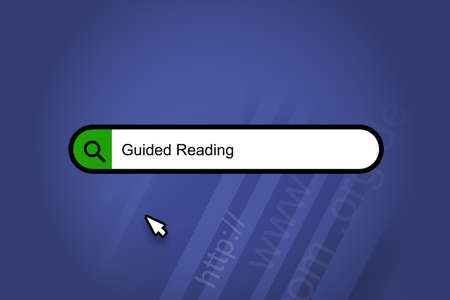Guided Reading - search engine, search bar with blue background