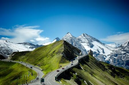 High Alpine Road in summer