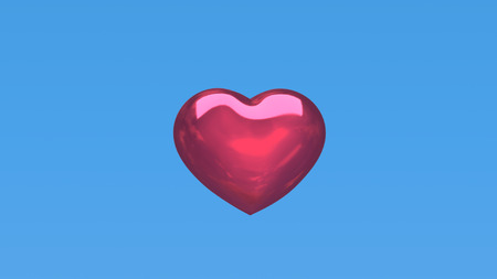 red heart with blue background