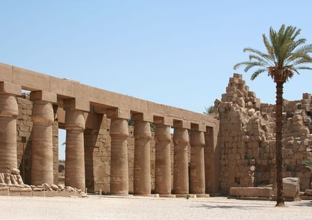 historic place: A photography of an old historic place in Luxor Egypt