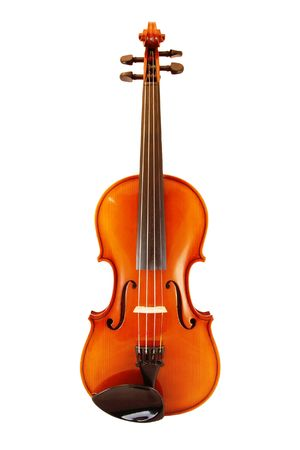 laque: A photography of a violine in front of a white background