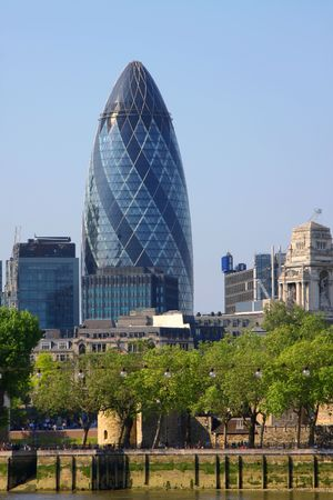 gherkin: A photography of the huge london gherkin
