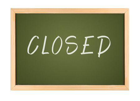 A photography of a small chalk board closed Stock Photo - 3189354