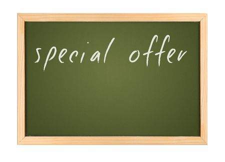 A photography of a small chalk board Stock Photo - 3189353