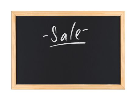 A photography of a small chalk board Stock Photo - 3189297
